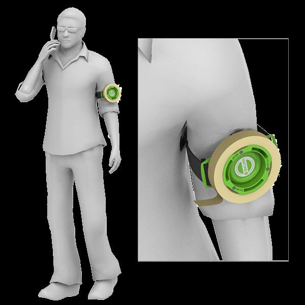磁性胶带箍-转轮-臂戴方法|森万