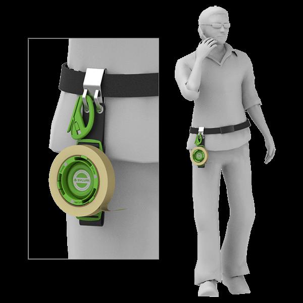 磁性胶带箍-转轮-腰挂方法|森万